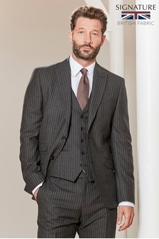 Slim Fit Signature Stripe Suit