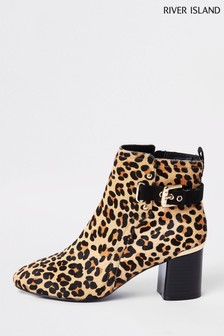River Island Animal Buckle Boot