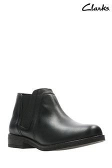 Clarks Black Leather Ankle Boot