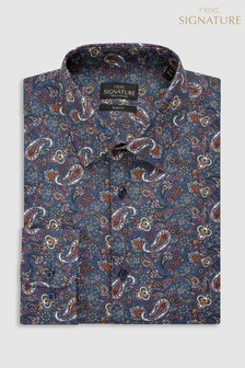 3ab558d95ae Signature Paisley Pattern Slim Fit Shirt