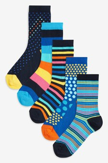 Spot/Stripe Socks Five Pack (Older)