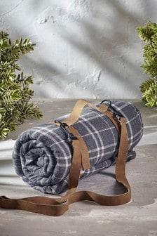 Текстильная подстилка для пикника в клетку