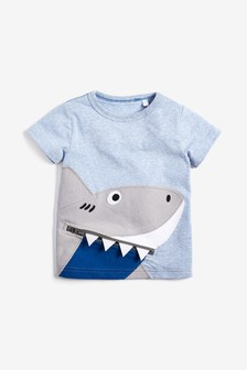 Shark Zip T-Shirt (3mths-7yrs)