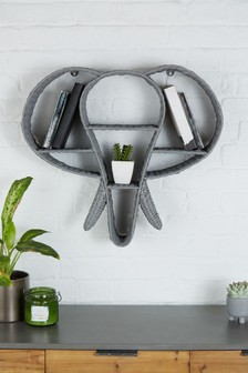 Woven Elephant Display Shelf