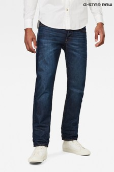 G-Star Dark Aged 3301 Straight Jeans