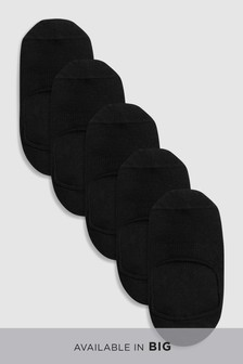 Lot de cinq paires de chaussettes invisibles d'entraînement à coussinets