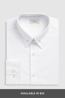 Slim Fit Pin Collar Easy Care Shirt