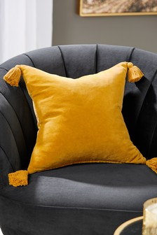 Velvet Tassel Cushion