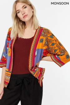 Monsoon Ladies Orange Jolene Jersey Print Cover Up
