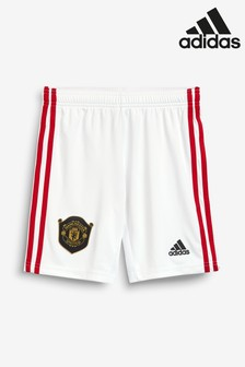 adidas Youth White Manchester United FC 19/20 Home Short