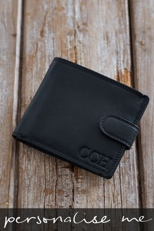 Personalised Leather Popper Wallet