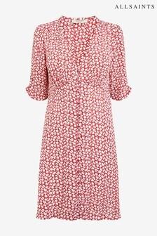 AllSaints Red Kota Scatter Dress