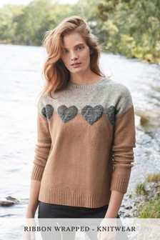 Lofty Crew Jumper With Ribbon Wrapping