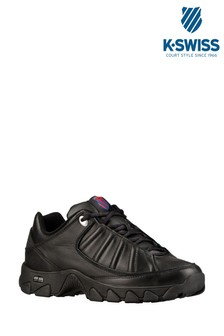 K•Swiss Black ST529 Heritage Trainer