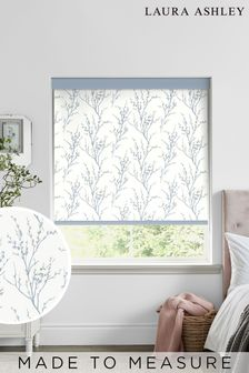 Laura Ashley Blue Pussy Willow Made To Measure Roller Blind