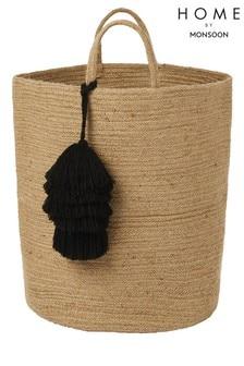 Monsoon Tassel Laundry Bag Basket