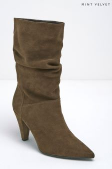 Mint Velvet Taupe Harley Suede Slouch Boot