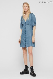 AllSaints Denim Print Kota Dress