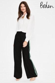 Boden Black Sherborne Side Stripe Trouser