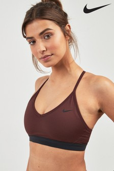 Nike Indy Burgundy Sports Bra