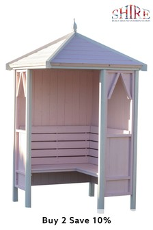 Canterbury Assembled Painted Arbour