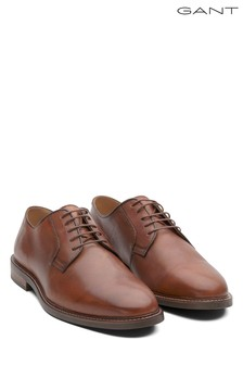 GANT Brown Ricardo Leather Derby Lace-Up Shoe