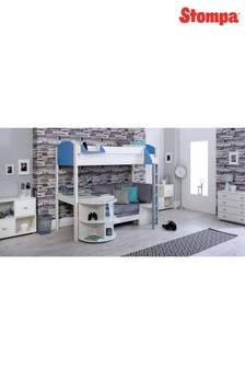 Casa D White/Blue High Sleeper By Stompa