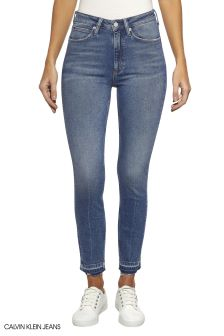 Calvin Klein Jeans Blue High Rise Skinny Ankle Jeans