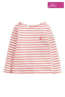 Joules Pink Harbour Jersey Striped Top