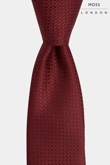 Moss London Wine Textured Tie
