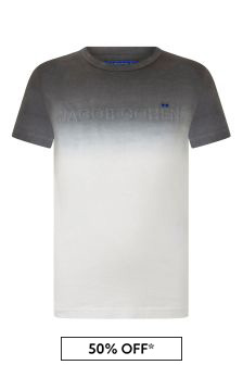 Boys White Tie-Dye Logo T-Shirt