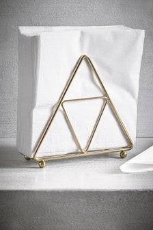 Gold Geometric Napkin Holder