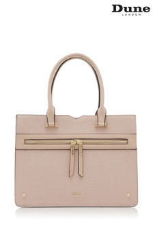 Dune Accessories Pink Large Zip Front Tote Bag