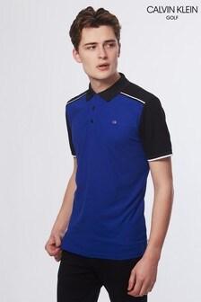 Calvin Klein Golf Black/Blue Radius Polo