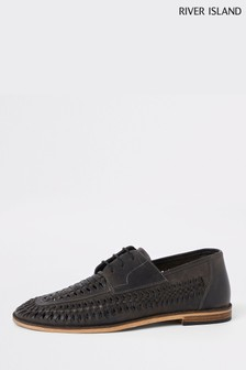 River Island Lace-Up Cut-Out Shoe