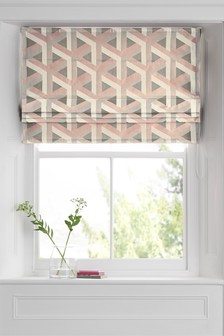 Optical Geo Jacquard Roman Blind
