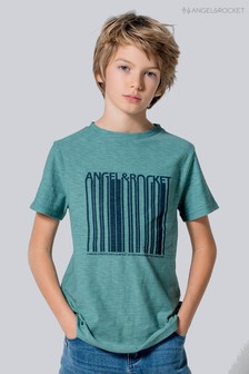 Angel & Rocket Green Barcode Graphic Tee