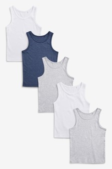 Vests Five Pack (1.5-16yrs)