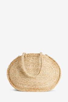Jute Oval Shopper