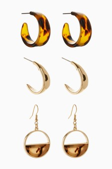 Tortoiseshell Effect Earring Set