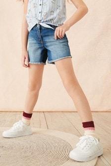 Denim Mid Length Shorts (3-16yrs)