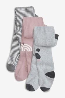 Panda Tights Three Pack (0mths-2yrs)