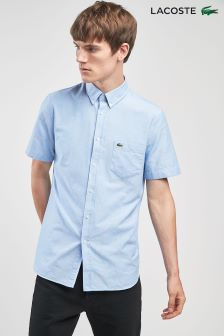 Lacoste® Blue Short Sleeved Oxford Shirt