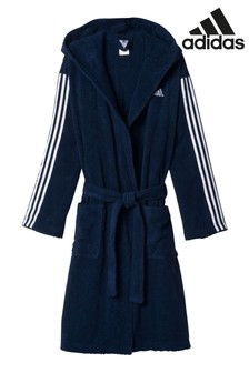 adidas Blue 3 Stripe Bathrobe
