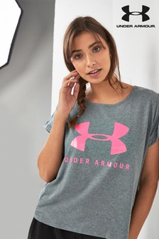 Under Armour Kastiges T-Shirt mit Logo