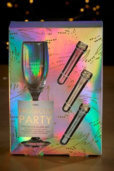Prosecco Glass And Shimmer Gift Set
