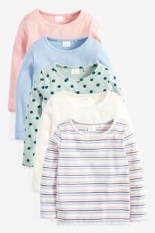 מארז 5 חולצות טי ארוכות (3 חודשים-7 שנים)