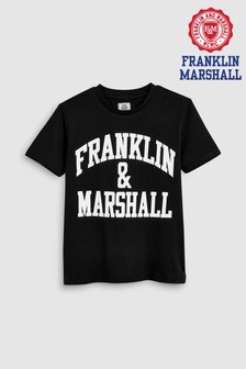 Franklin And Marshall Black Logo Tee