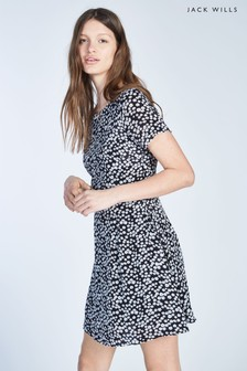 Jack Wills Merriden Printed Fit Flare Dress