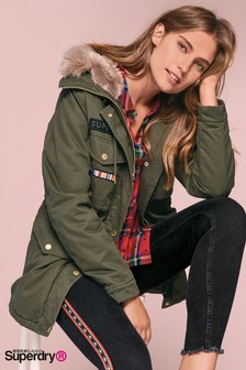 Superdry Rookie Rock Royalty Badge Parka